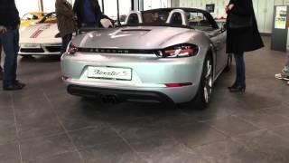 Porsche Boxster S 718 Engine Sound with Sports Exhaust