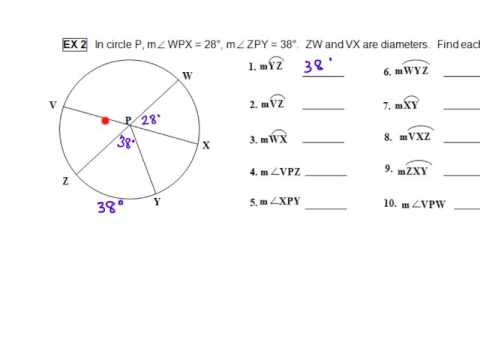 Finding Arc and Central Angle Measures