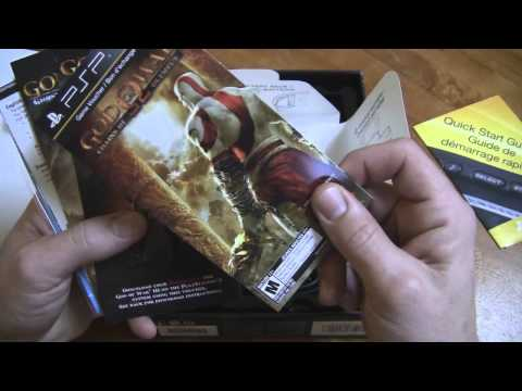 Unboxing the PSP 3000 God of War Ghosts of Sparta Bundle