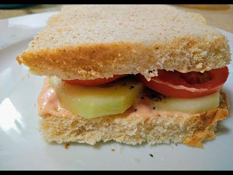 Cucumber & Tomato Sandwich Recipe | Healthy Sandwich Recipev| Episode 83