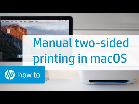 Manual Two-Sided Printing on HP Printers from a Mac Computer