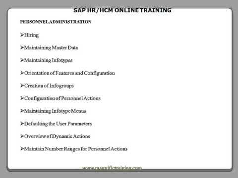Sap hr/hcm online training