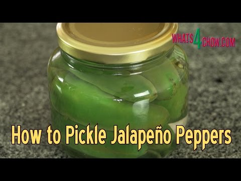 How to Pickle Jalapeño Peppers - Homemade Pickled Jalapeño Peppers Quick & Easy