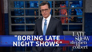 Trump Denounces 'Very Boring Late Night Shows'