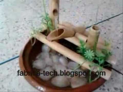 how to make fountain of bamboo reeds Home
