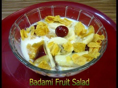Badami Fruit With Corn flakes Salad (Healthy ) Recipe Video