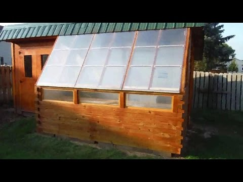 Insulated Greenhouse Shed Complete Build