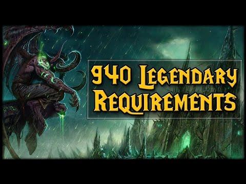 Legendary 940 Upgrade Requires Illidan Questlines?