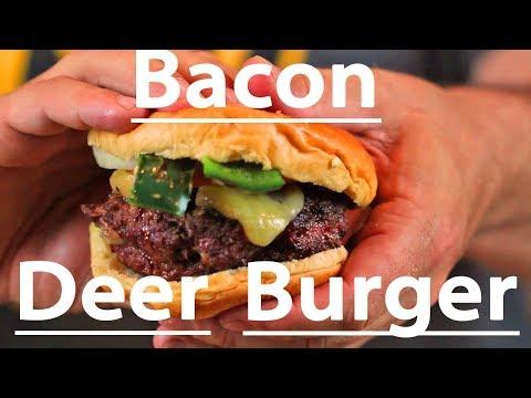 Bacon Deer Burger- AMAZING!!