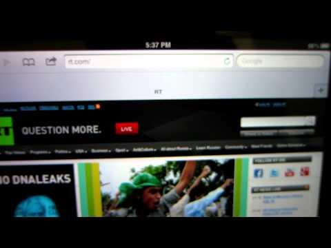How to add a bookmark in Safari on the iPad 1, iPad 2, iPad 3, iPhone 5, IOS