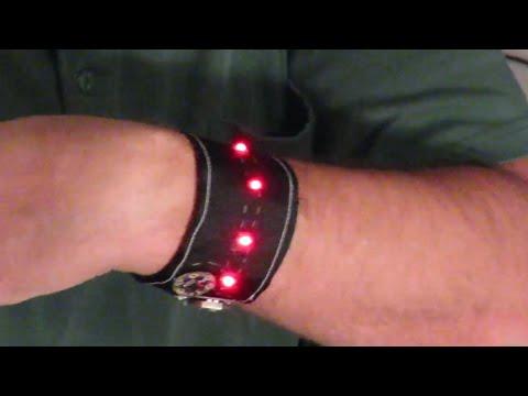 Make: Halloween led bracelet with lilypad