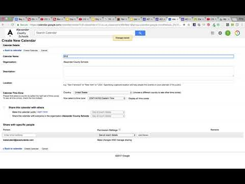 Create Multiple Calendars in Google Calendar