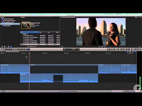 Removing Background Music in Final Cut Pro X