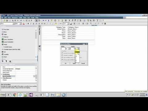 IBM Cognos 10 - Report Studio : Repeater