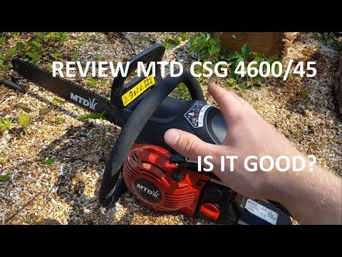 MTD CSG 4600/45 gas chainsaw REVIEW
