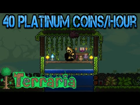 Terraria 1.3 | The Best Money Farm 40 Platinum Coins/Hour (Tutorial)