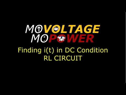 Solving for i(t) in DC Conditions (RL Circuit)