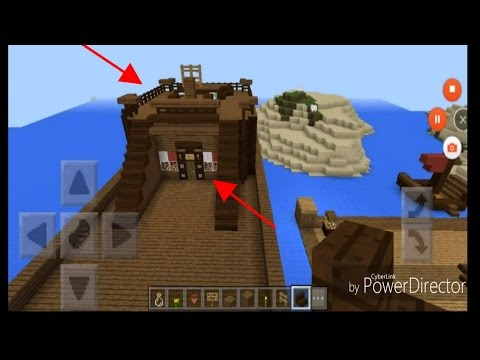 Minecraft | Captain's Room and Steering Deck (Pirate Ship Interior Design 1)