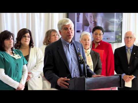 Governor Rick Snyder Announces Support of Medicaid Expansion in Michigan