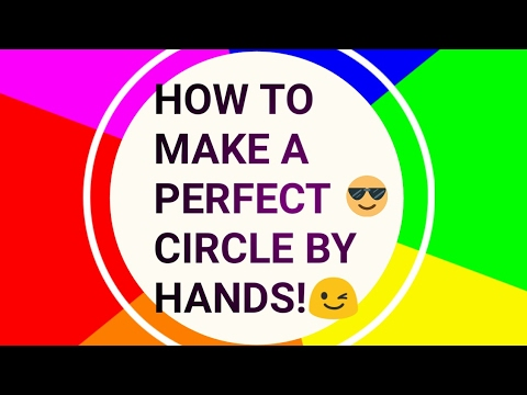 How to make  a perfect Circle without compass !