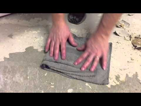 The easiest way to remove linoleum from concrete