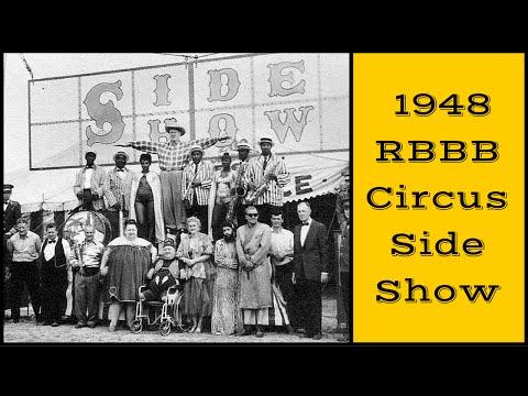 the 1948 RBBB Circus Sideshow