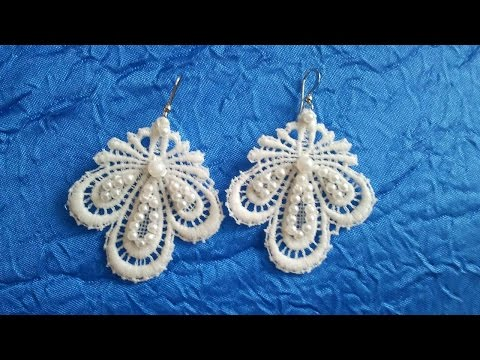 How To Make Lace Hanging Earrings - DIY Style Tutorial - Guidecentral