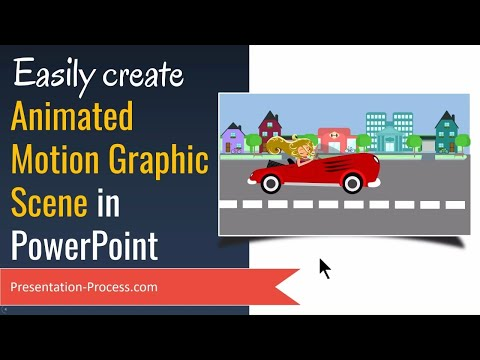 Easily Create Animated PowerPoint Motion Graphics Scene ( Any PowerPoint version)