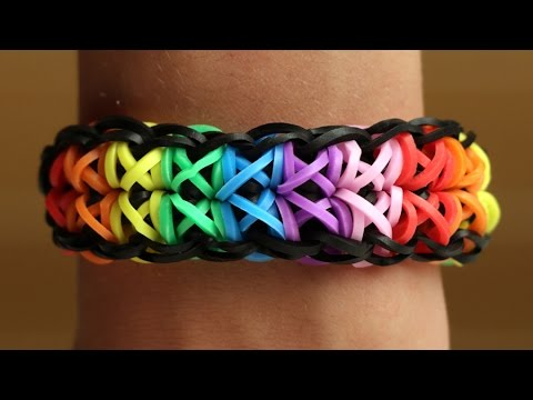 Rainbow Loom English - TOTEMPOLE - Loom Bands, easy, how to, DIY