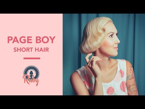 Page Boy  (For short hair) - Pinup Hair Tutorial