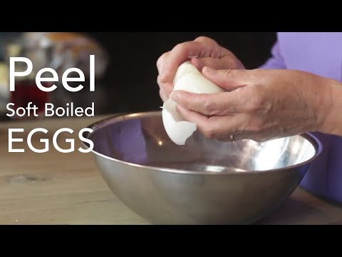 How To Peel Soft Boiled Eggs