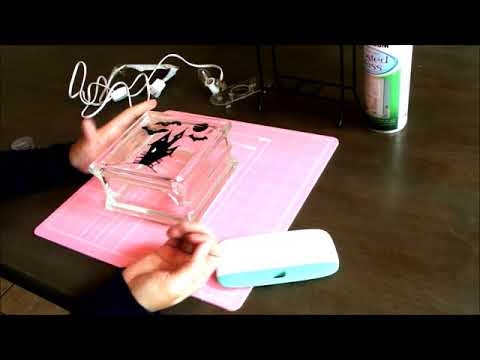 How to make a glass block decoration