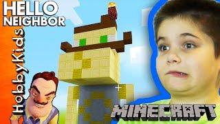 Minecraft HELLO NEIGHBOR Build Challenge! with HobbyKids