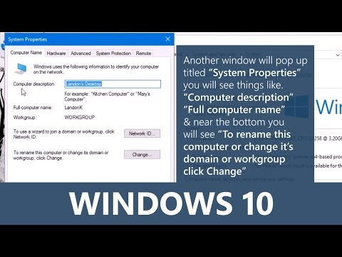 Windows 10 - Learn how to change your computer's name.