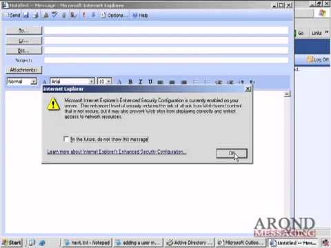 How To Add a Mailbox in Exchange 2003   YouTube
