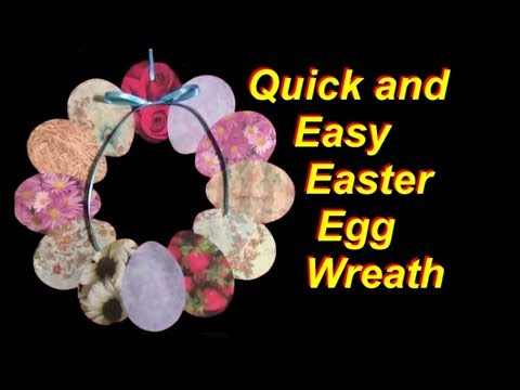 Quick and Easy DIY Paper Easter Egg Wreath