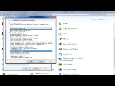 How to Set Keyboard Language in Windows 7