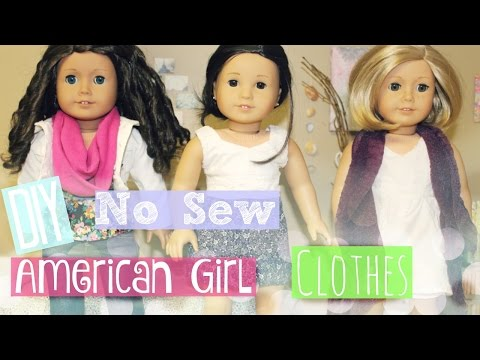 DIY No Sew American Girl Doll Clothes + Outfit Ideas!