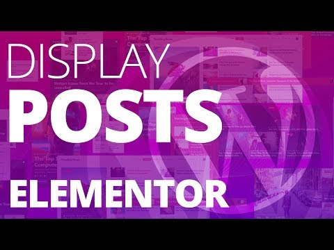 Display Posts in Lists, Tiles, Grid, Slider, Carousel, Ticker, and more with Elementor