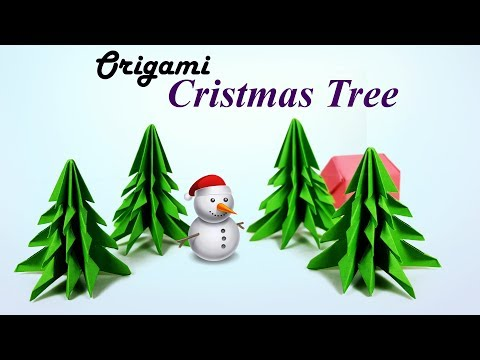 How to Make a 🎄Christmas Tree / Xmas Tree - 3D Paper origami Christmas Tree: Christmas crafts- DIY