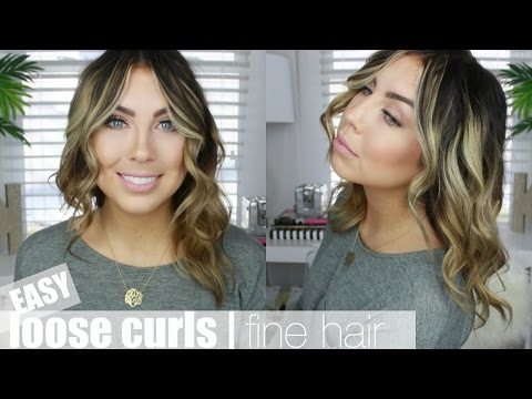 My Go-To Loose Curls | Fine Hair