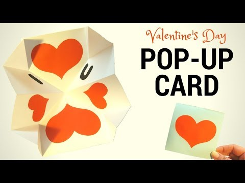 How to make Valentine's Day pop up  card Gift idea - Hand made