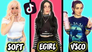 Transforming Into Tik Tok Girls (VSCO Girl, Soft Girl, E Girl)