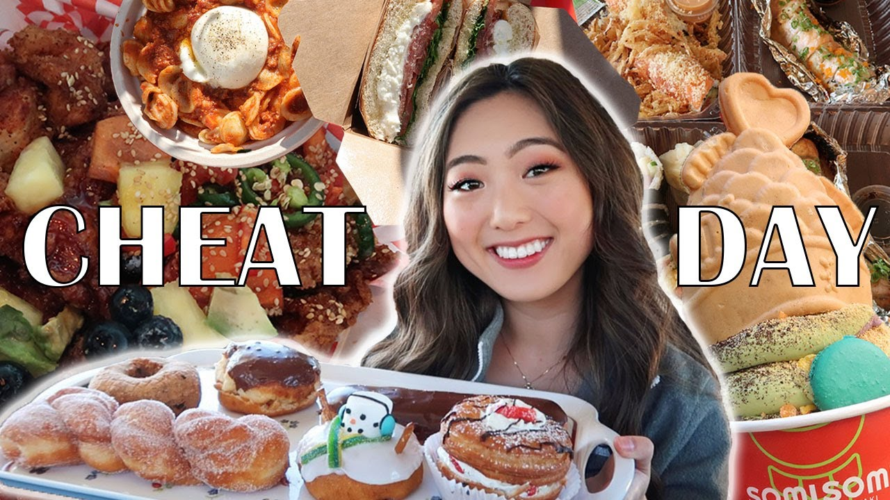 EPIC CHEAT DAY (6000+ CALORIES) | FOLLOWERS CHOOSE WHAT I EAT | Donuts, Korean Fried Chicken, Cake