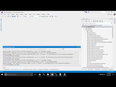 Part 1 - Social Media Logins and OAuth MVC Project Setup