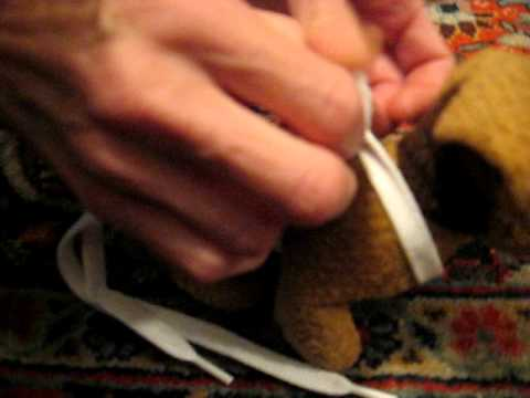Demonstration of Temporary Shoelace Harness for doing TTouch on Kittens