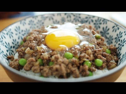 Cantonese Minced Beef with Egg Over Rice - 窩蛋牛肉
