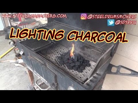 SDSBBQ - How to light charcoal without lighter fluid or a charcoal chimney