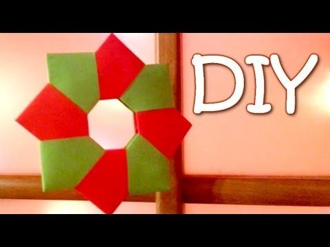 DIY Christmas Ornament - Paper Wreath (8-unit modular origami)