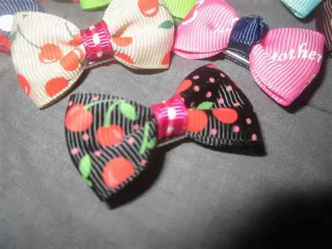 HBY™ Girls Baby Toddler Ribbon Mini Hair Bow Snap Clips, Barrettes